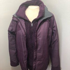 Columbia Double Layer Purple Winter Jacket